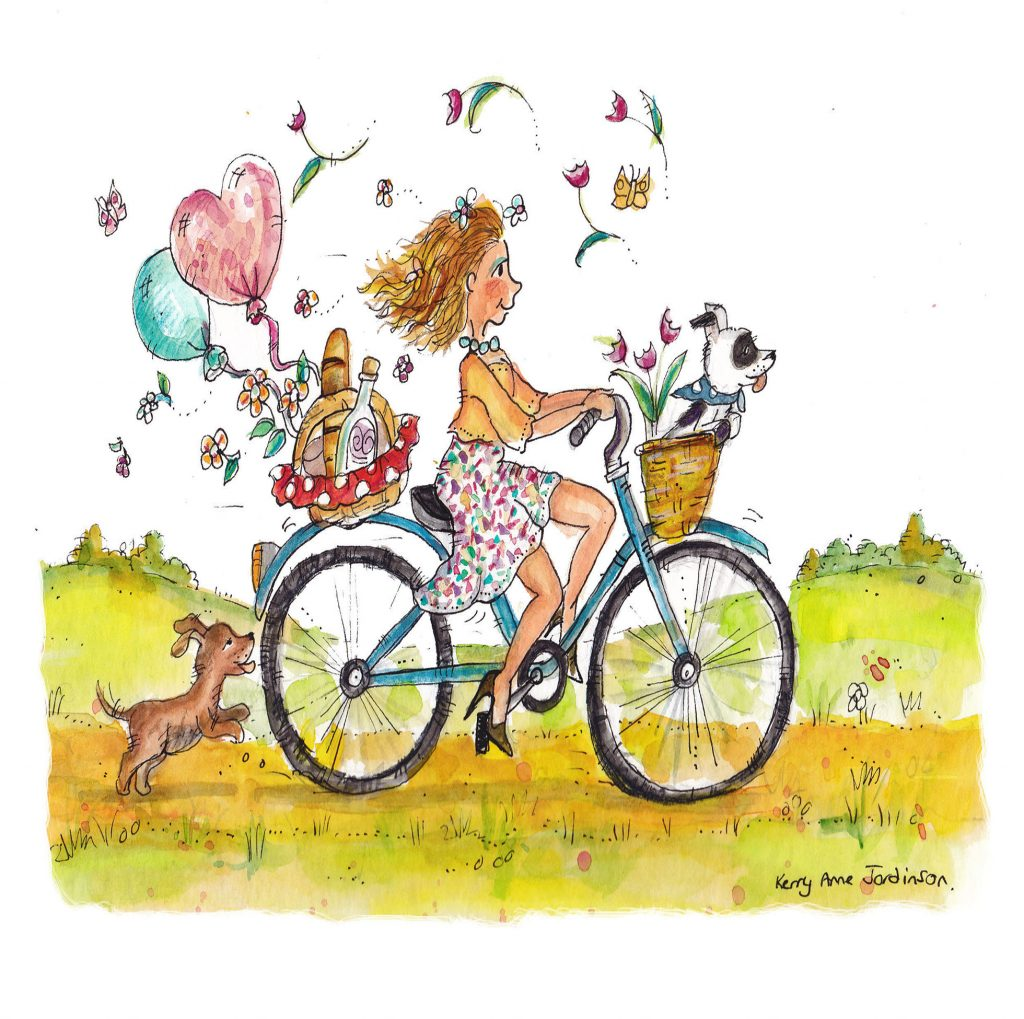 'Bike ride with friends' by Kerry Anne Jordinson