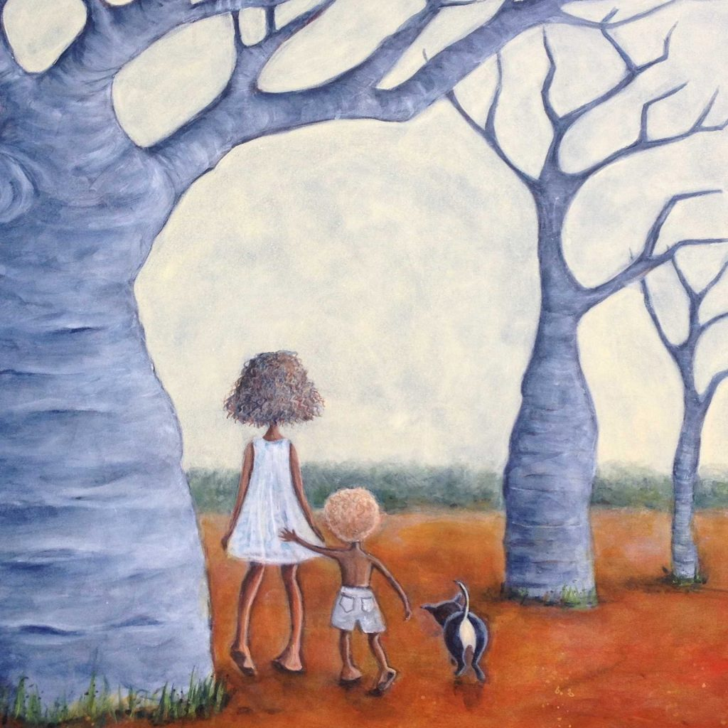 'Landscape with Children' by Kerry Anne Jordinson