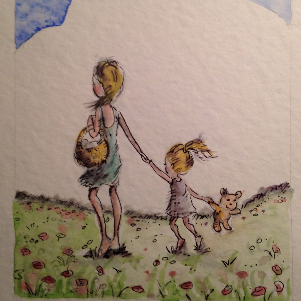 'Mother and Child Walking' by Kerry Anne Jordinson