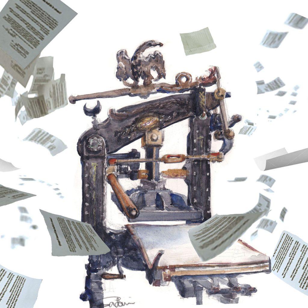 'Columbian Press and Creativity' by Sadami Konchi