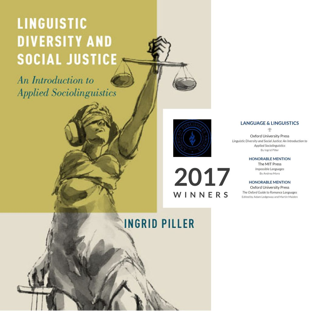 Sadami Konchi cover illustration - Linguistic Diversity and Social Justice, by Ingrid Piller, Oxford University Press, 2016