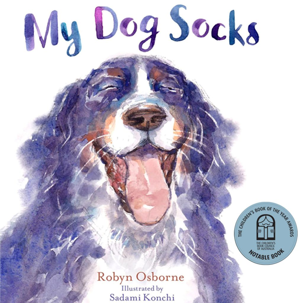 My Dog Socks Front Cover illustrated by Sadami Konchi