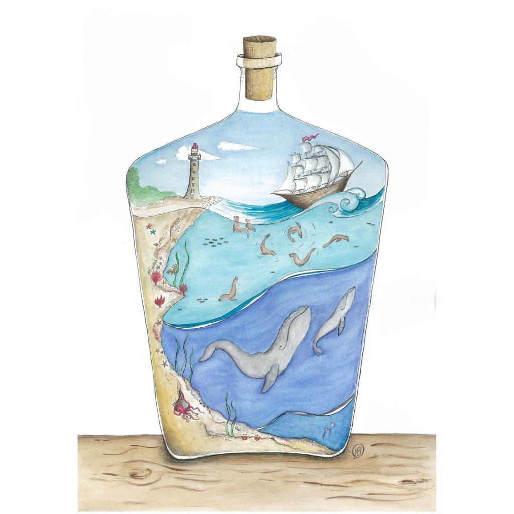 'Seal Bay - World in a Bottle' by Noelene Kizis