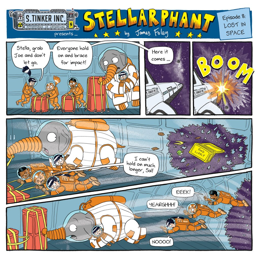 Stellarphant episode 8: Lost in Space (comic serial for The School Magazine) by James Foley