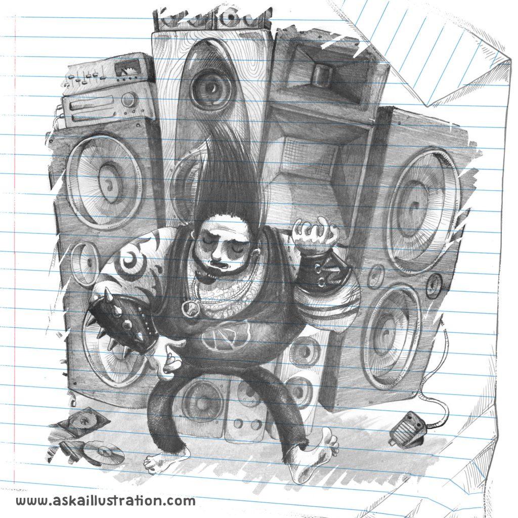 'Heavy Metal Dad 1' by Aska