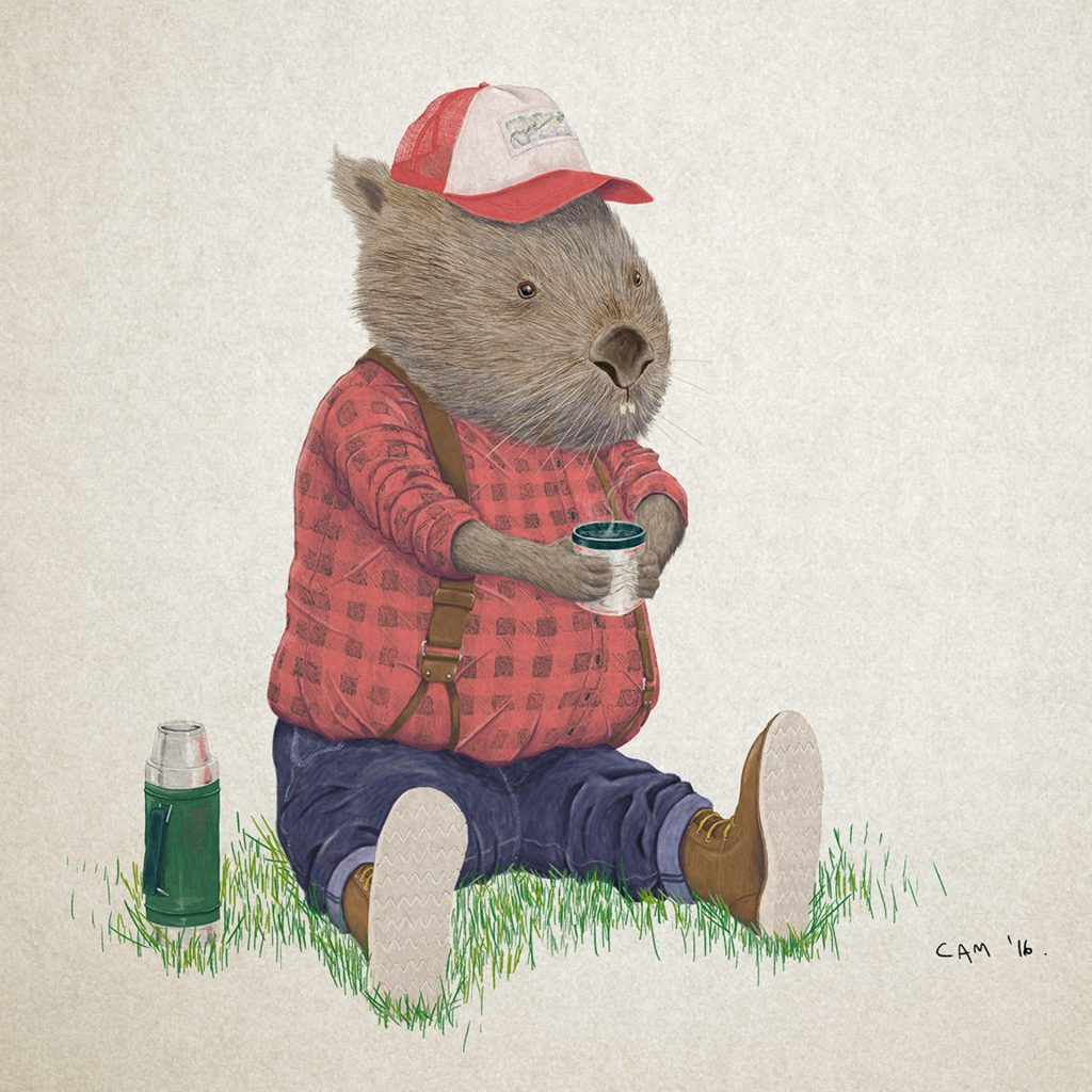 'Lumberjack Wombat' by Cameron Shaw
