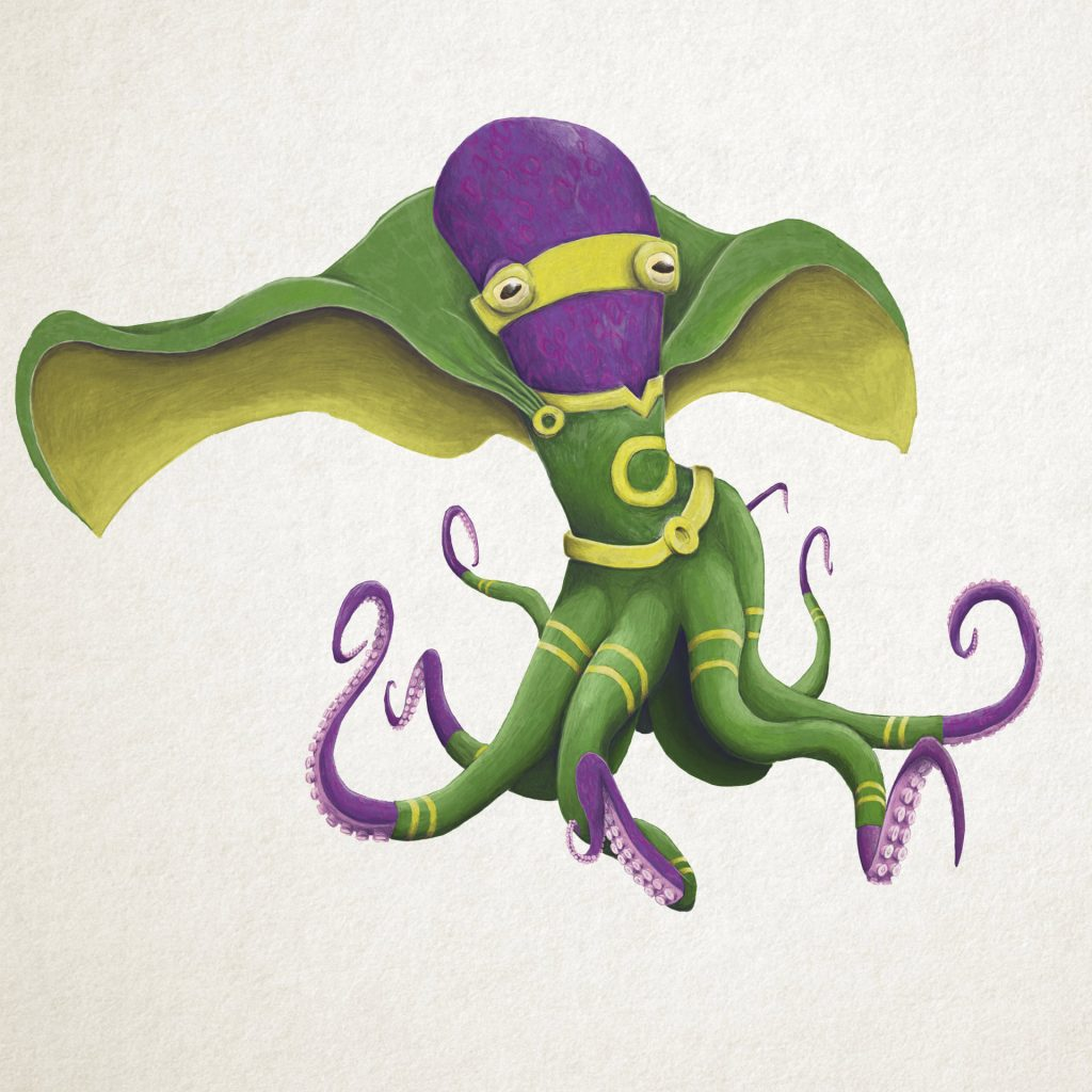 'Superhero Octopus' by Cameron Shaw
