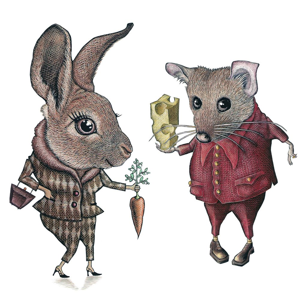 'Rabbit & Mouse' by Gregory Myers