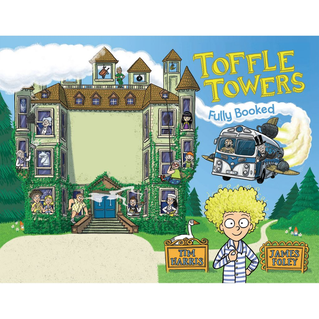 Toffle Towers 1: Fully Booked (front and back cover)