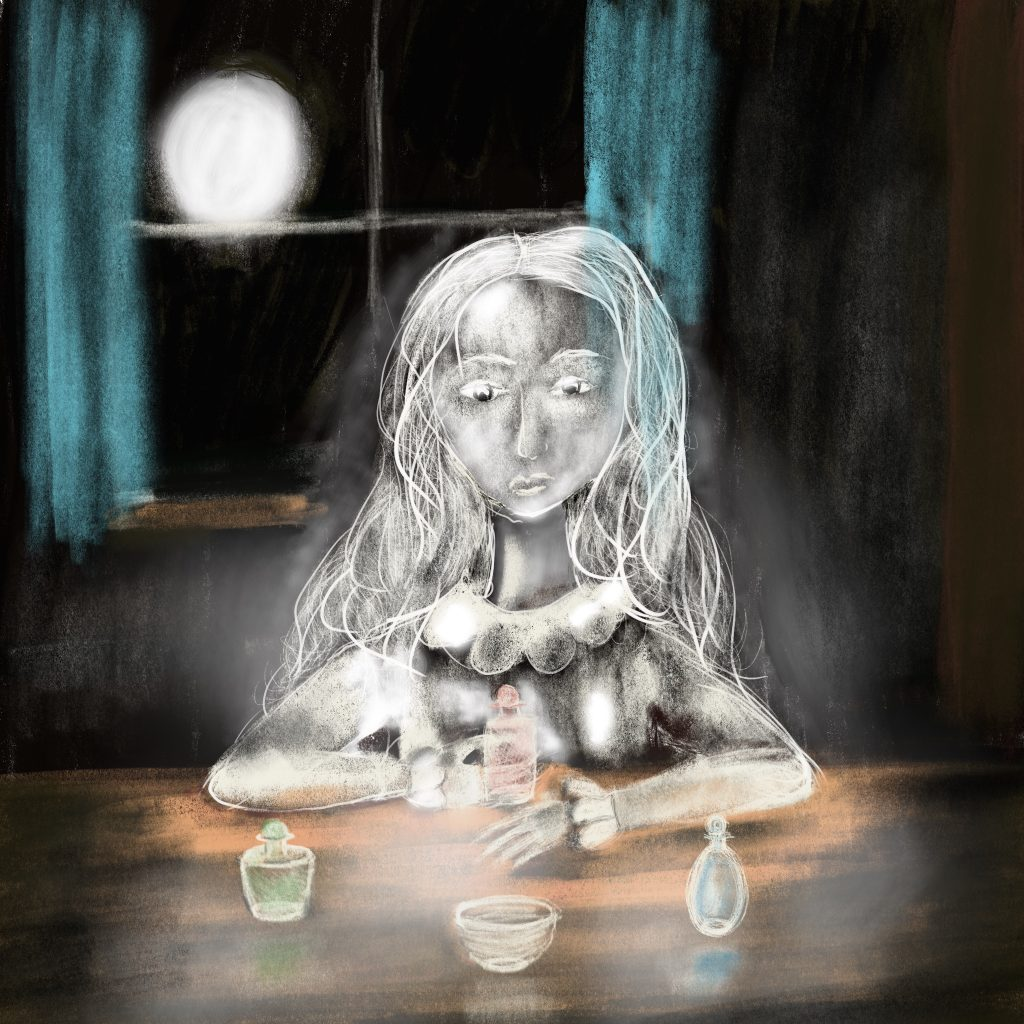 'Little Ghost Tries to Pick up Glass' by Heidi O'Brien