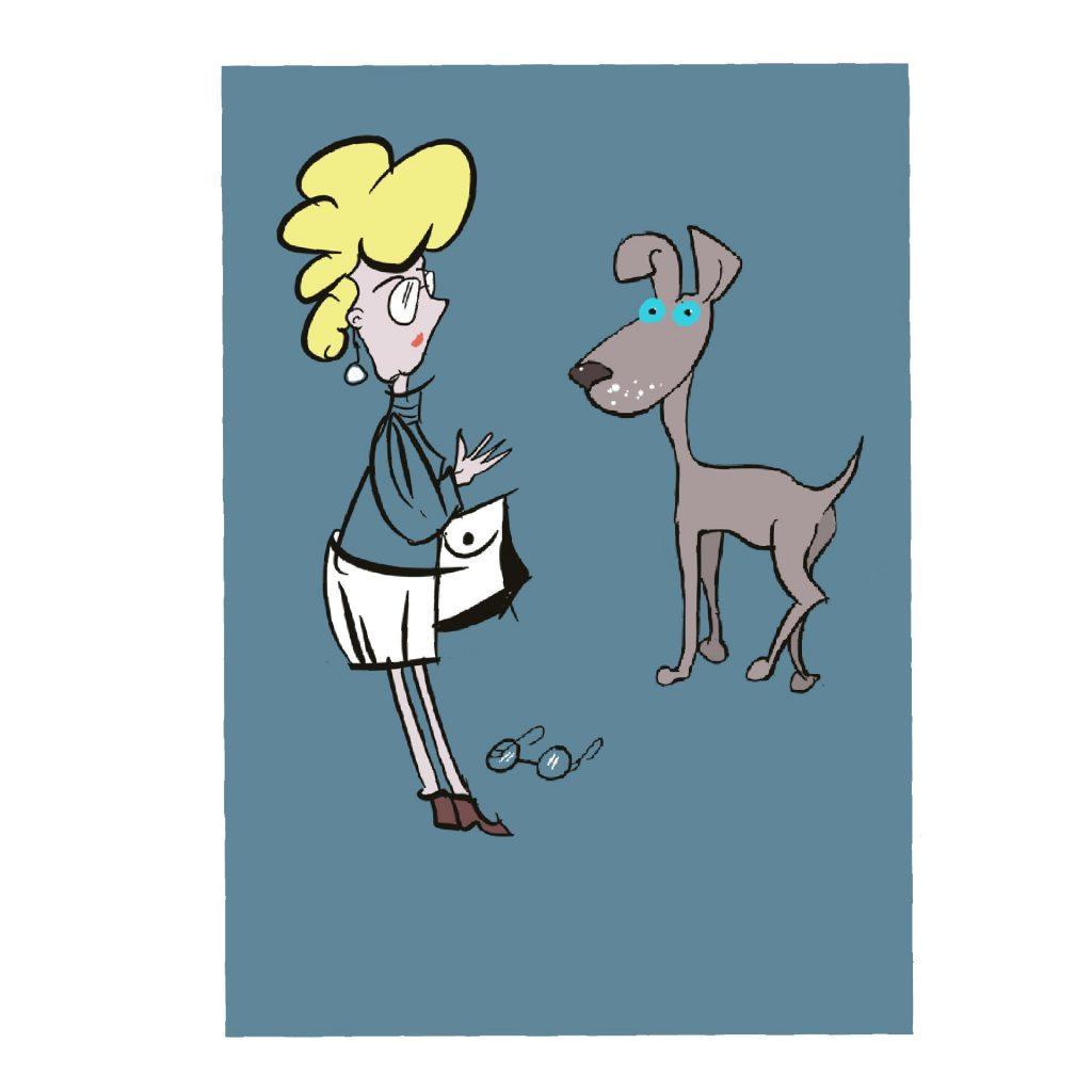 'DOG and LADY' by Bronwyn Hudson