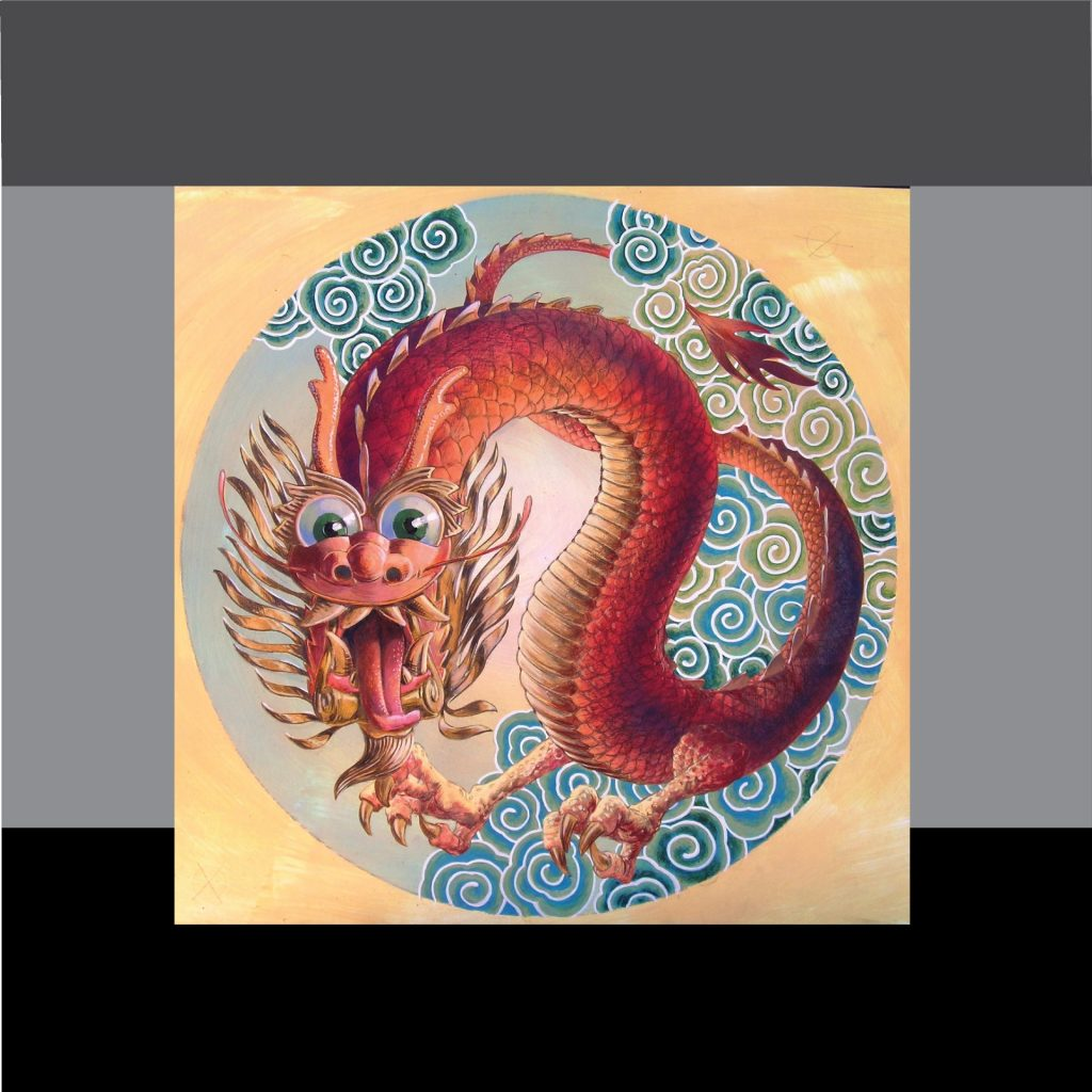 'Dragon Rondelle - enlarged and printed on club ceiling' by Vincent de Gouw