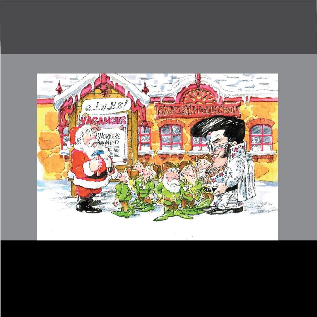 'Father Christmas and Elvis - Christmas card' by Vincent de Gouw