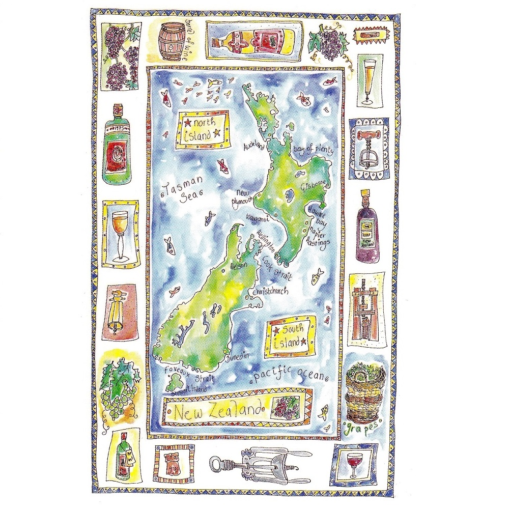 'Wine map of New Zealand' by Julia Weston
