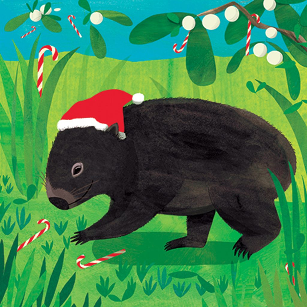 'Christmas Wombat' by Jody Pratt