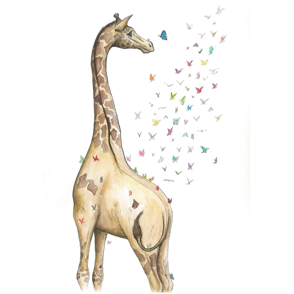 'The Young Giraffe' by Noelene Kizis