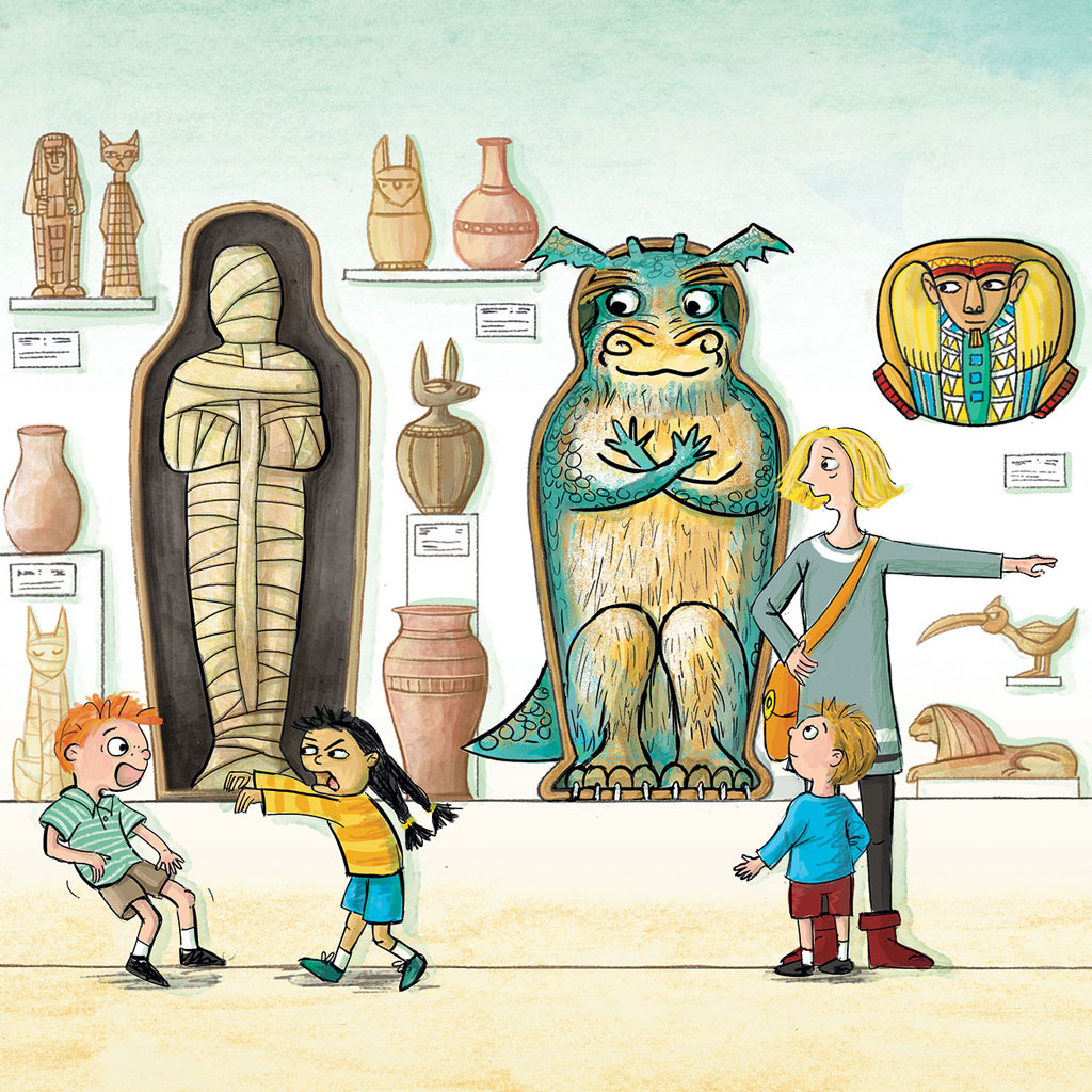'Arthur and the Curiosity (Egyptian Room)' by Lucinda Gifford