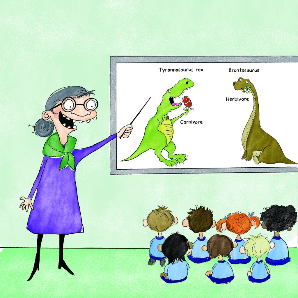 'Dinosaur teaching' by Chrissie Krebs