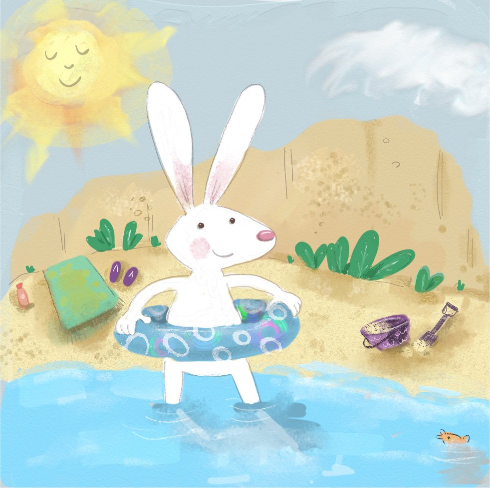 'Sunny Day Bunny' by Janet Trotta