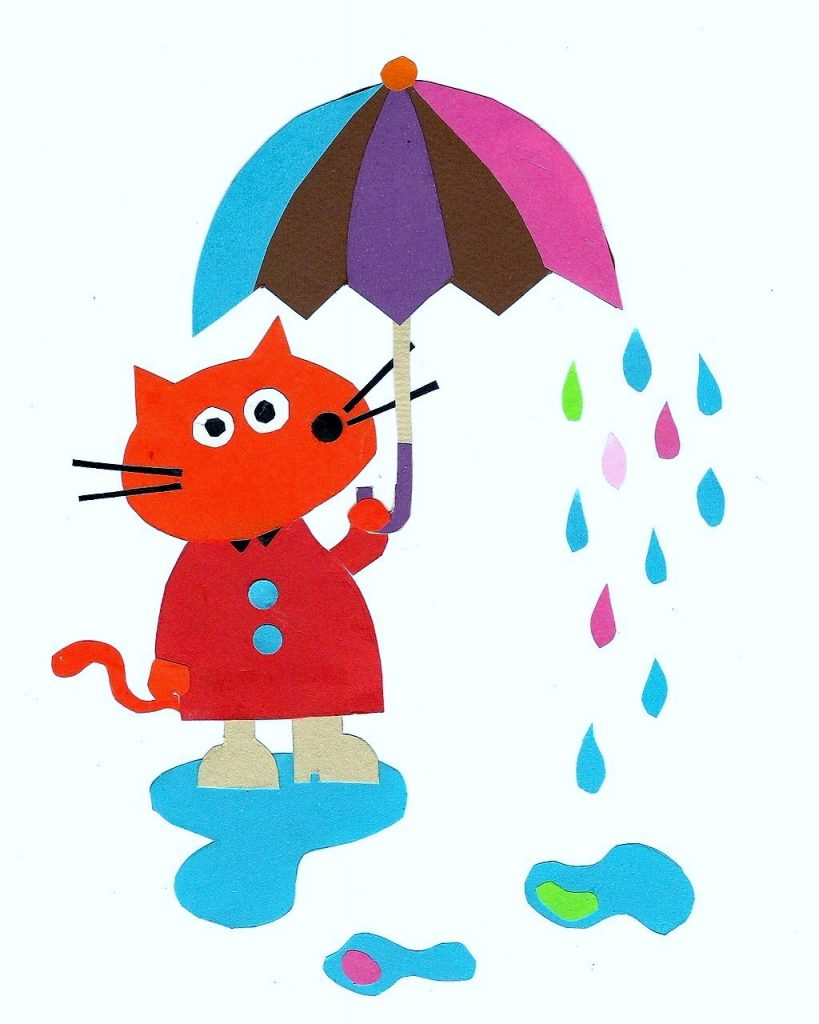 Cat Caught in the Rain by Emma Damon