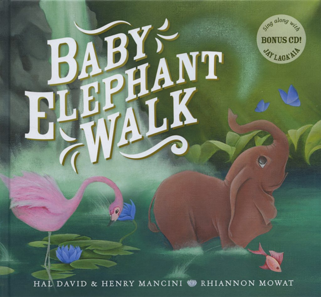 'Baby Elephant Walk' cover illustrated by Rhiannon Mowat