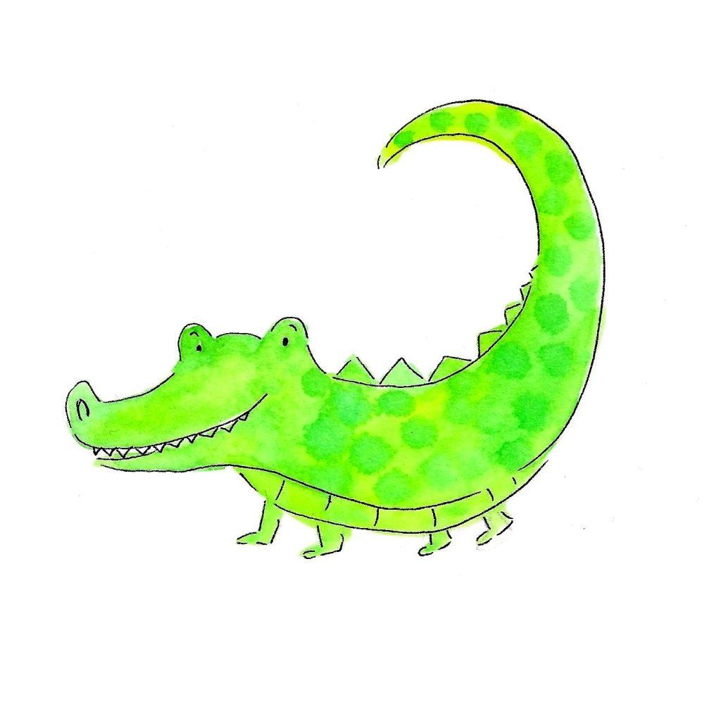 'Crocodile illustration' by Julia Weston
