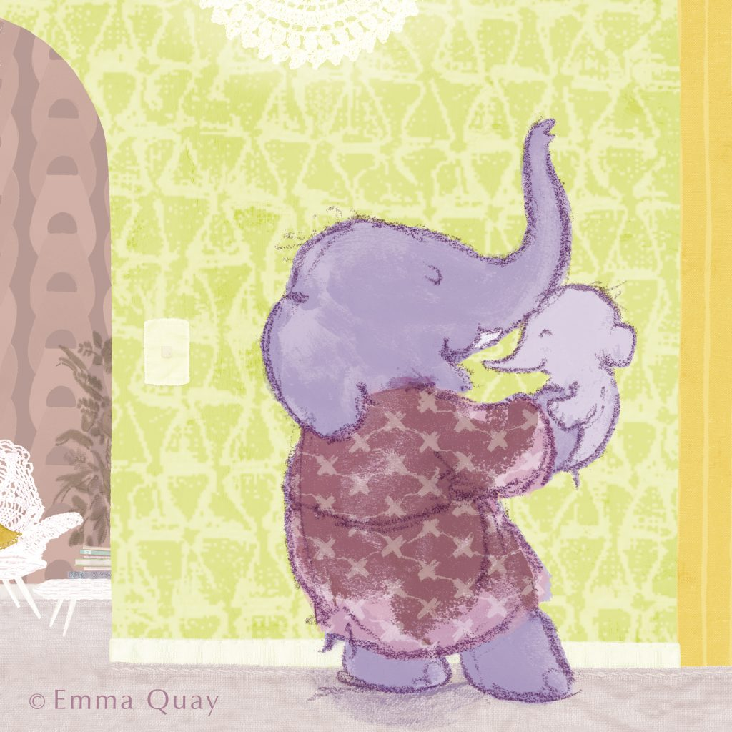 I could nibble on your nose, from 'Baby Bedtime', illustrated by Emma Quay