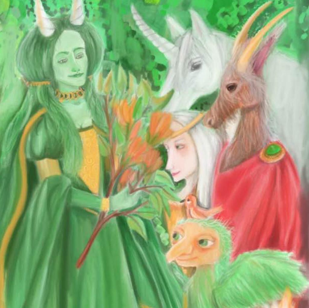 'The Green Lady of the Forest' by Heidi O'Brien