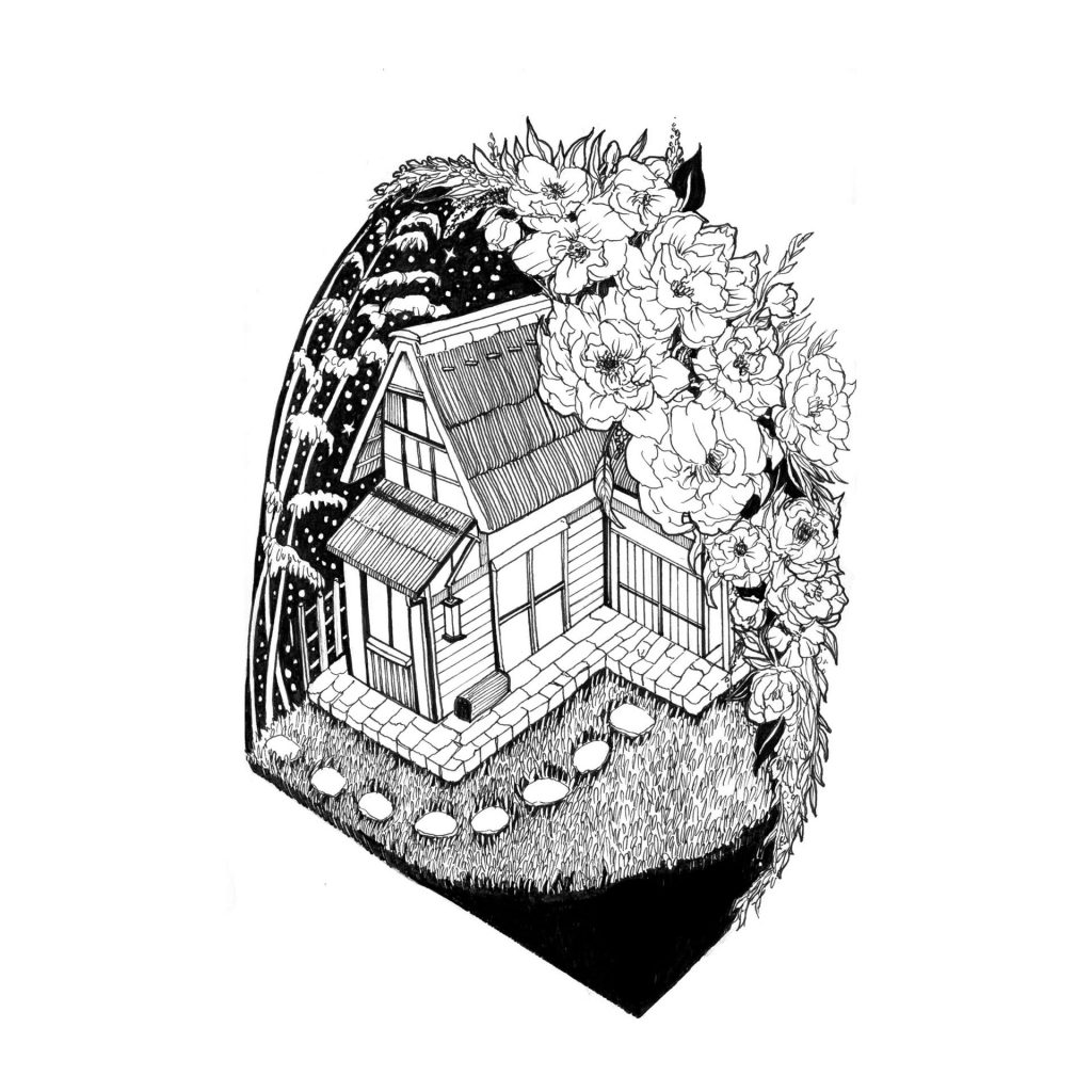 'Japanese Farmhouse' by Sarah Lin