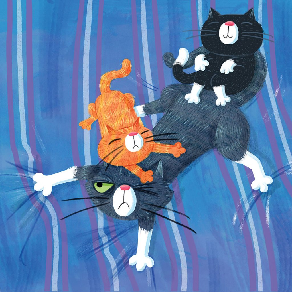 'The Cat Wants Kittens (Endpaper)' by Lucinda Gifford