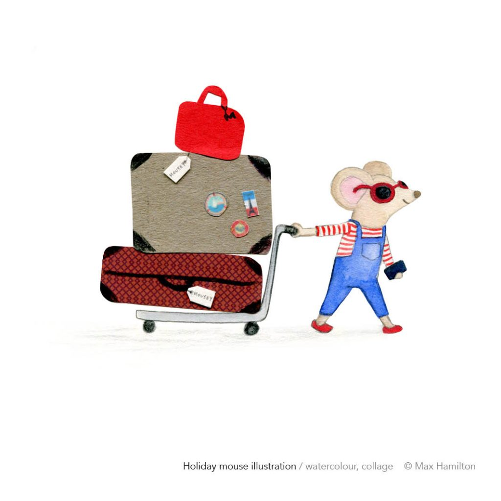 Mouse on vacation by Max Hamilton