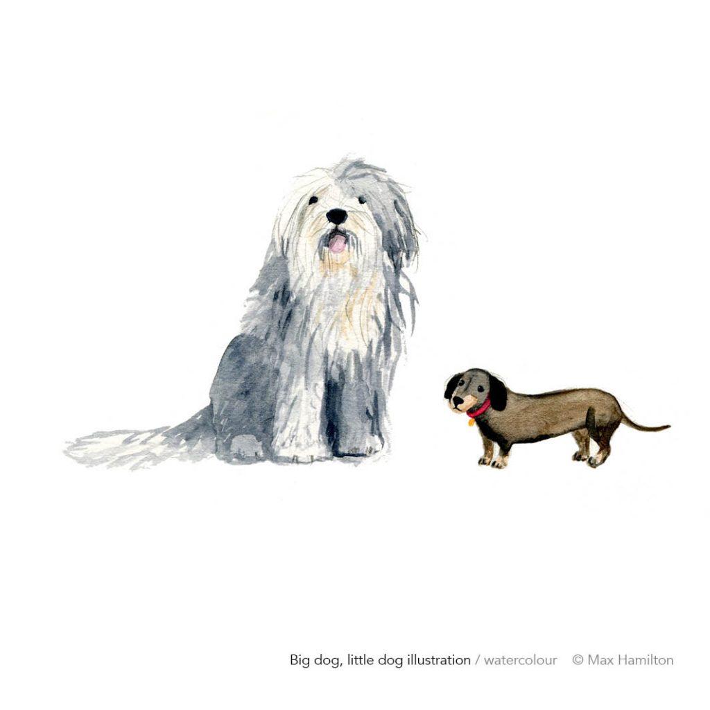 Big dog little dog by Max Hamilton