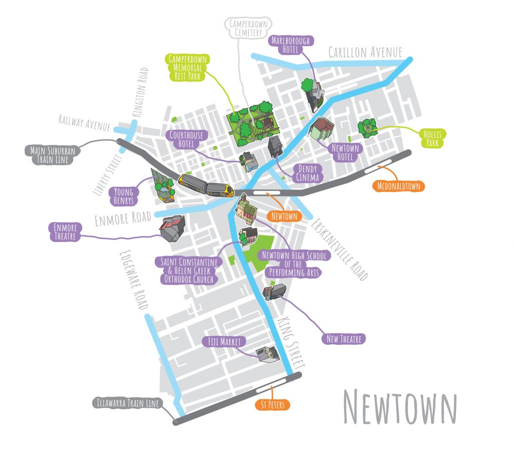 'Newtown Map' by Kristian Aus