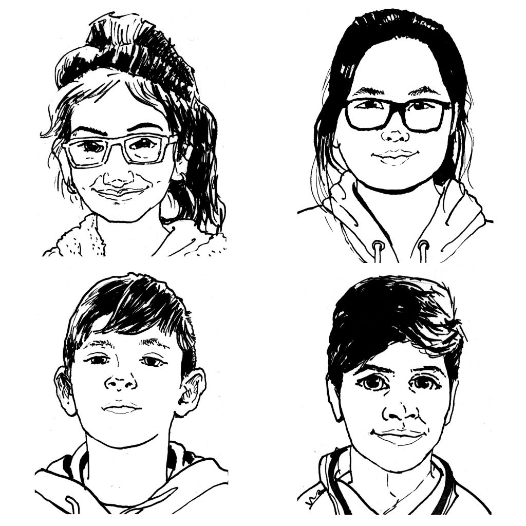 Editor Portraits (from a series created for 100 Story Building's Early Harvest Magazine) by Simon O'Carrigan