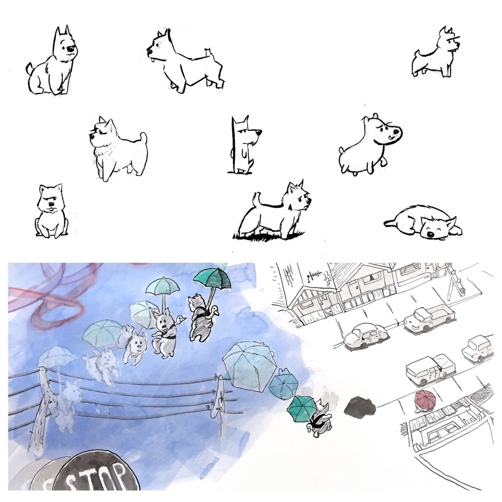 Rough plans for Norbert (Early development work for my book 'Flight Paths' that was begun under an ASA Award Mentorship in 2017) by Simon O'Carrigan