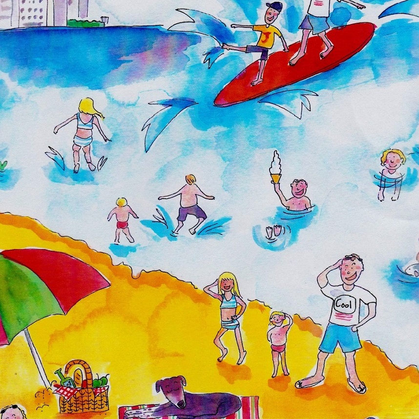 'Fun at the Beach' by Julia Weston