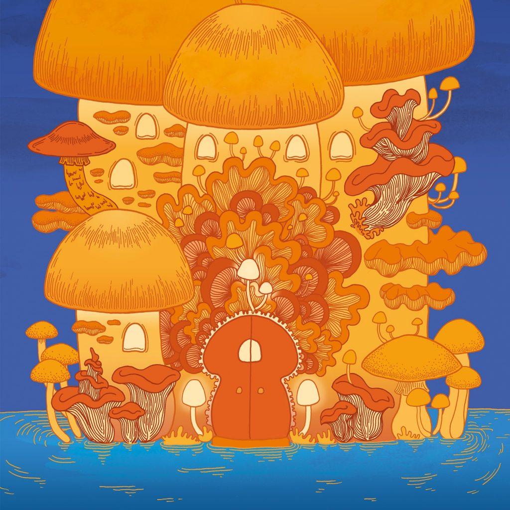Mushroom Temple by Polly Reid