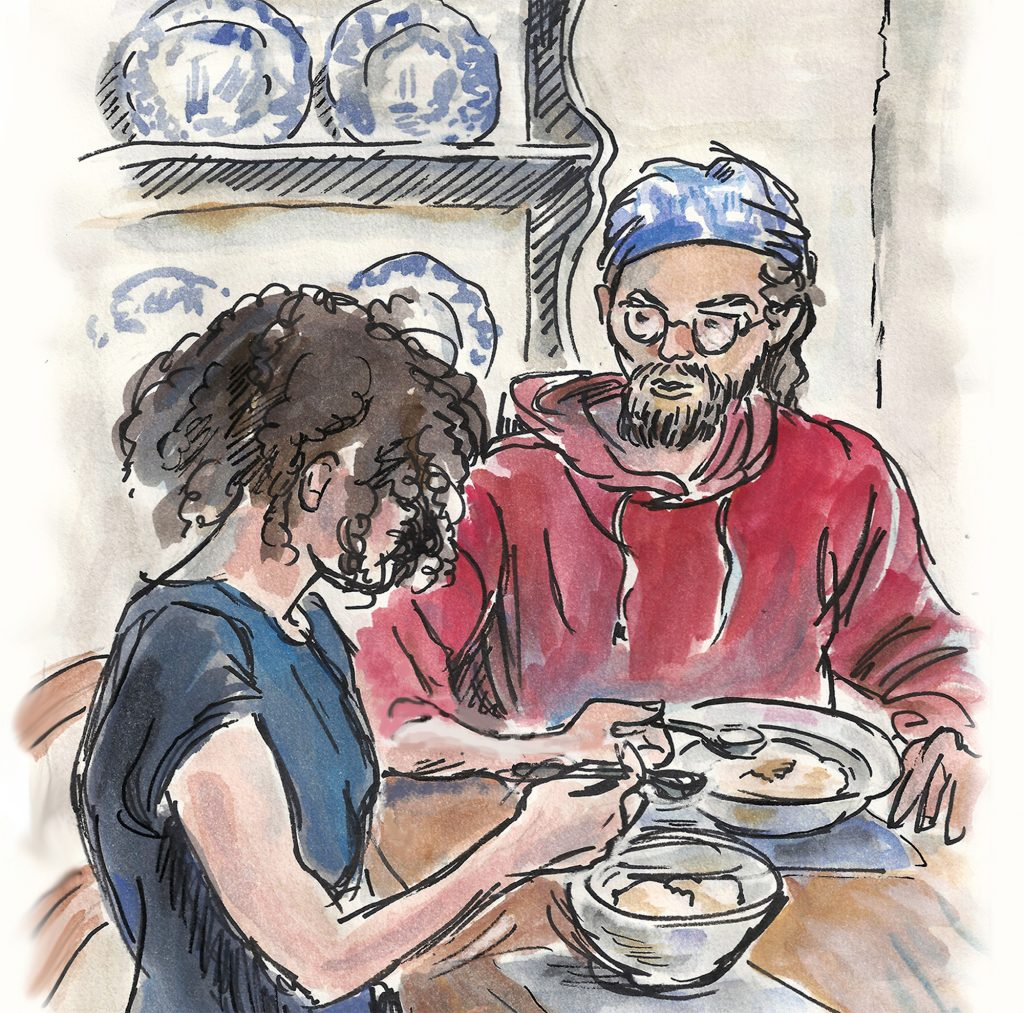 'over a bowl of porridge' by Andrea Verstegen