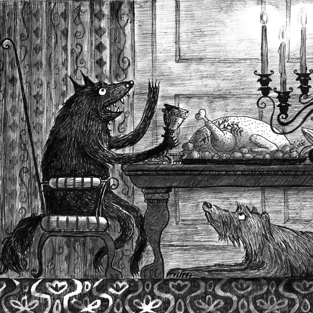 'The wolves have dinner' by Lucinda Gifford